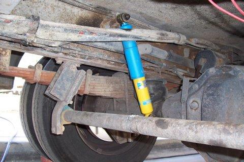Rear shock mounting